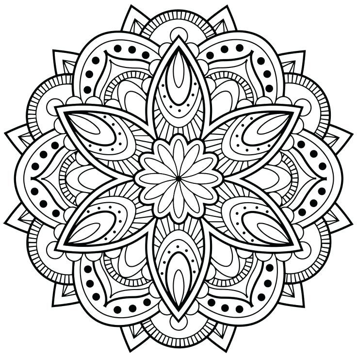 Flower Mandala Coloring Pages Adult Coloring Pages Pinterest
