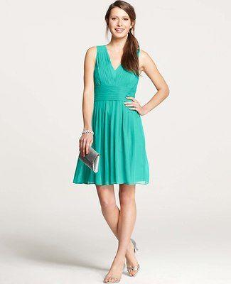 Petite Silk Georgette Pleat Tank Dress