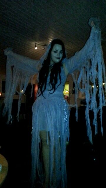 Myself as the white lady ghost.