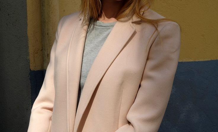 REISS Blazer #reiss #powderpink #babypink #lightpink #blazer #ootd #bloggerstyle #fashion #clothing