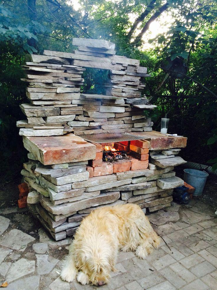 Slate bbq grill
