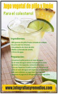 jugo vegetal con piña y limón