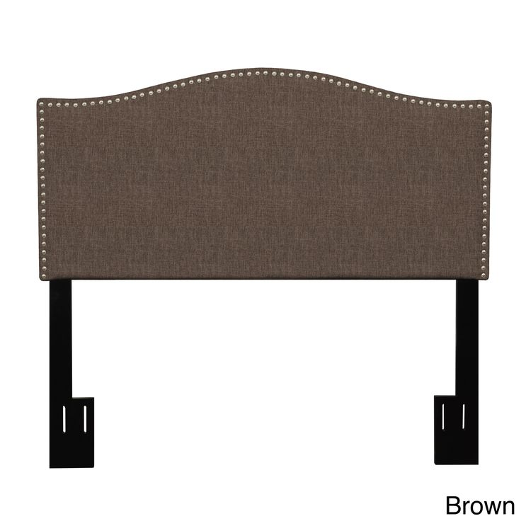 Portfolio Lucca King/ California King Upholstered Crescent Shaped Headboard (Brown)