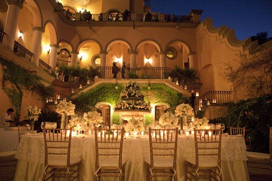 A small wedding at a villa in San Miguel de Allende, Mexico