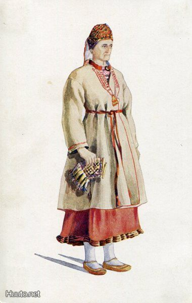 Orthodox Karelian woman from Sakkola.