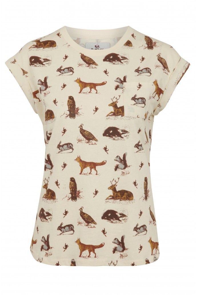 Bellfield Kirkwood Woodland Animal Print Tee why oh why is Bellfield so perfect :') <3