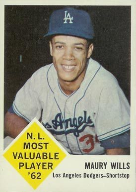 maury wills baseball card | 1963 Fleer Maury Wills #43 Baseball Card Value Price Guide
