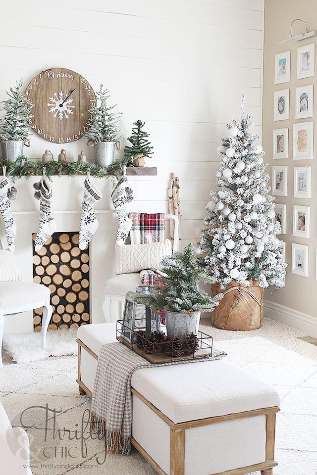 Farmhouse Style Christmas Home Tour Trees Pinterest Decorations And Decor