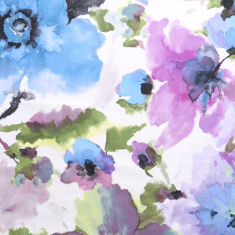 Watercolor Floral Print Table Linen Rentals