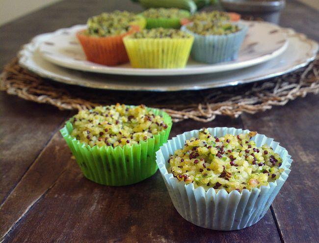 Finti muffin di bulgur, quinoa, zenzero e zucchine. esatto. finti, perchè del muffin hanno solo la forma. nient'altro li accomuna. il procedimento?