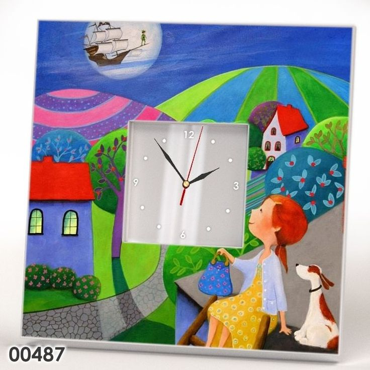 Scandinavian Art Modern Wall Clock Mirror Painting Kids Room Decor Watch Gift #IKEA #Modern
