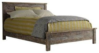 Hampton Teak Platform King Bed - mediterranean - beds - albuquerque - by Zin Home I want this