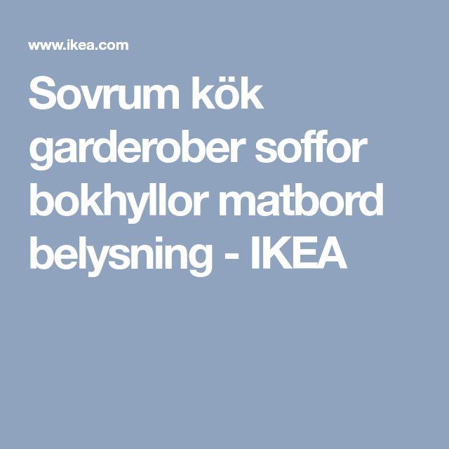 Sovrum kök garderober soffor bokhyllor matbord belysning - IKEA