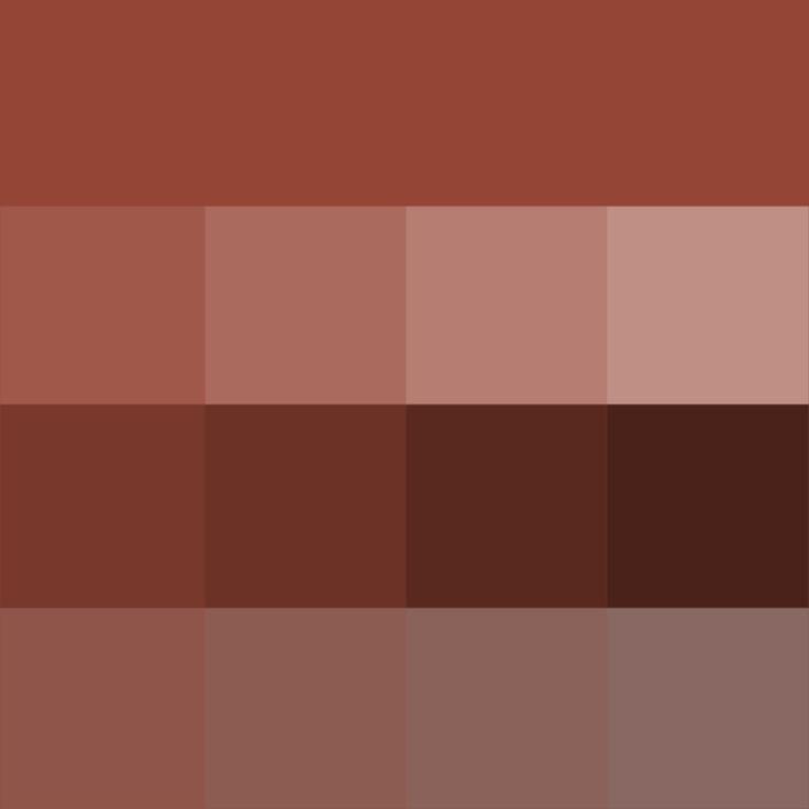 Chestnut hue tints shades tones hue pure color for Soft brown paint colors
