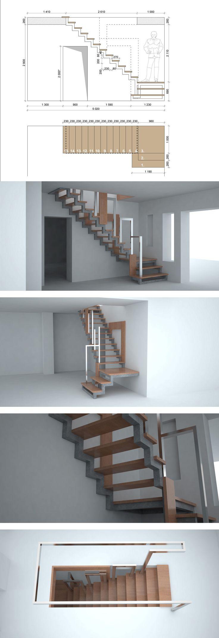 #3d #лестница #каркас