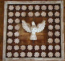 Divino espirito santo (pomba a paz): artesanato mineiro em madeira ! - 179123