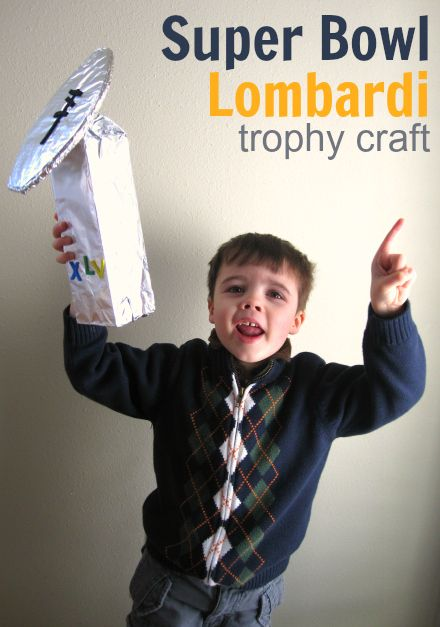 Haha... For whom ever wins the football pool! Super Bowl Trophy Craft
