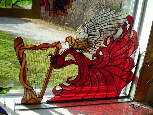 Corner Angel-AmberLyn's Stained Glass - Delphi Artist Gallery