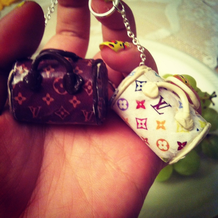 Louis Vuitton purse charms, my mom and aunt would like these.