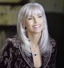 Emmy Lou Harris - This was taken on her 66th Birthday... Lovely! I am tempted to let my hair go grey....