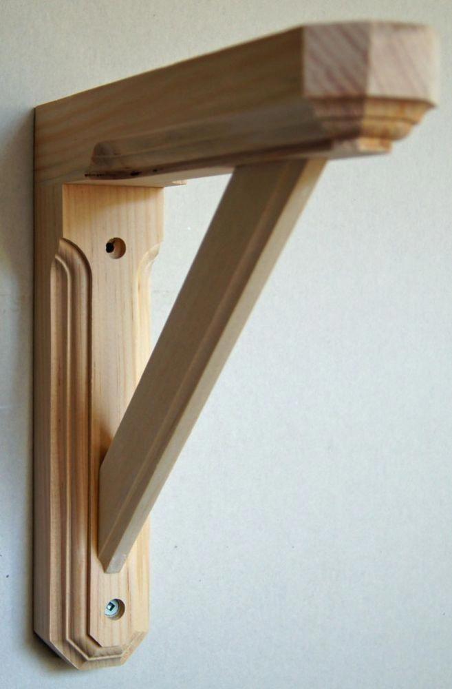 Solid Pine Wood Wall Shelf Bracket Hexagonal Ends Unfinished New Design Woodworkingplans Ideias Para Madeira Caixas Alteradas Suportes De Madeira