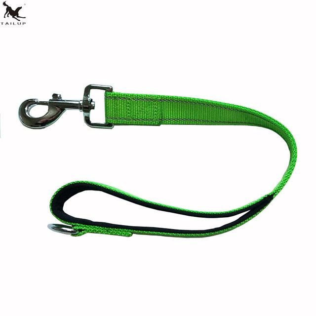 [TAILUP] New Strong Dog Belt Traction Rope Big Dog 50cm Short Leash Collar Nylon Rope For Large Dogs Accessories CL106green
