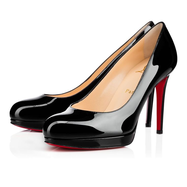 7f67f2b09a6 NEW VERY PRIVE PATENT 120 Black Patent Calfskin - Women Shoes - Christian  Louboutin. High Heel ...