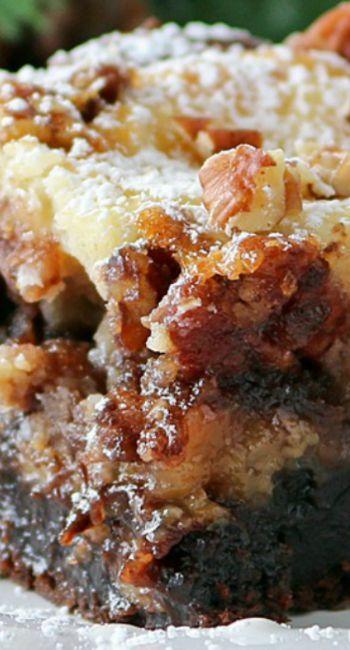 Brownie Pecan Pie Ooey Gooey Butter Cake