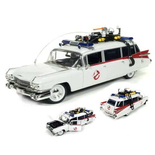 Ghostbuster 1959 Cadillac Ecto-1 1:18 Scale Die-Cast Vehicle - Round 2 - Ghostbusters - Vehicles: Die-Cast at Entertainment Earth