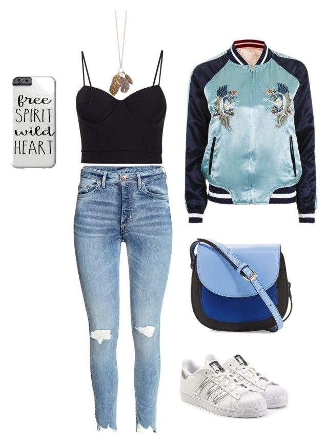 """""""Weekend outfit"""" by lawastyle on Polyvore featuring Topshop, adidas Originals, KC Jagger and Alexander Wang"""