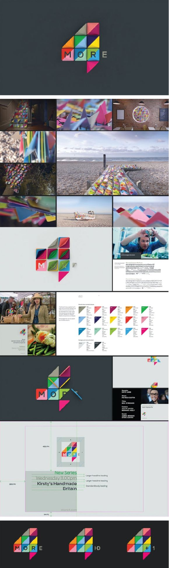 Branding of More4 television channel by London-based ManvsMachine