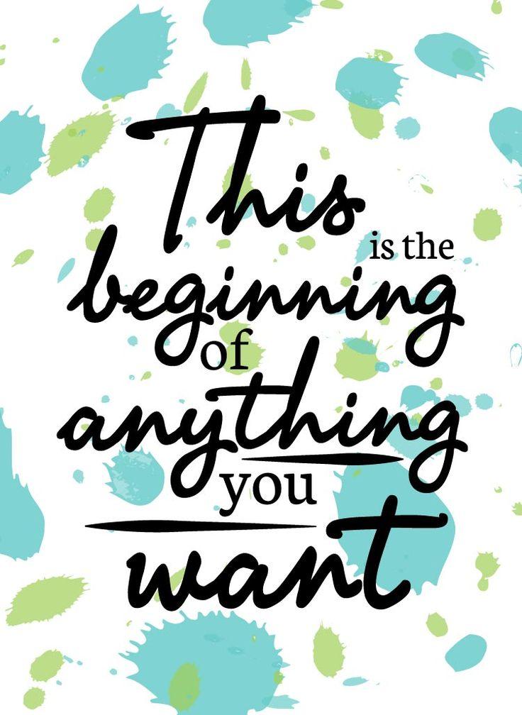 Just begin today