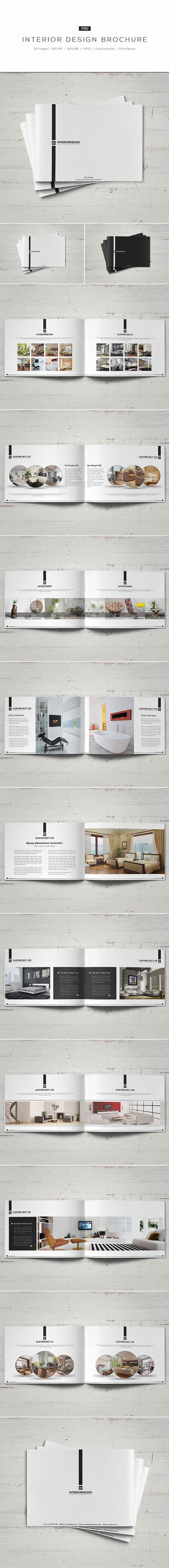 interior design brochure on behance - Interior Design Portfolio Ideas