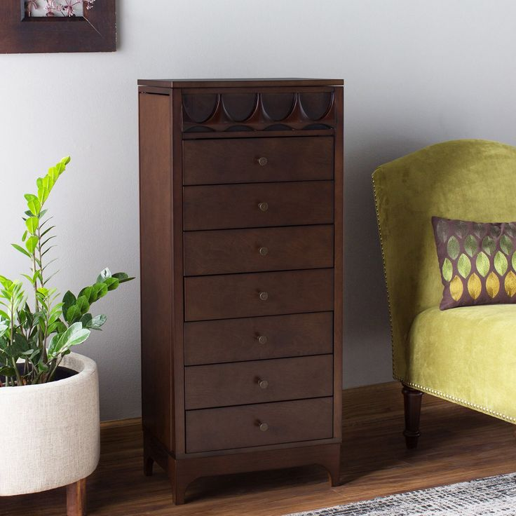 Belham Living Mid Century Modern Jewelry Armoire | from hayneedle.com