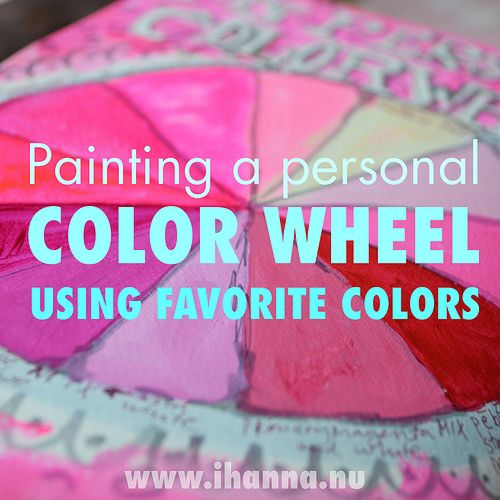 Painting a personal color wheel in PIN - art journal page by iHanna