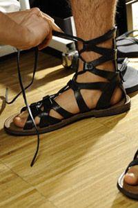 Byzantine Refereces: Ancient Roman Sandals. Dolce & Gabbana Man Shoes Details – Summer 2014