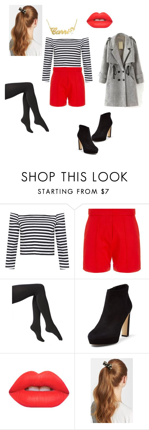 """Red Shorts Outfit"" by debyg on Polyvore featuring Wood Wood, Via Spiga, Diane Von Furstenberg, Lime Crime, L. Erickson, women's clothing, women, female, woman and misses"