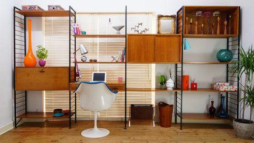Vintage LADDERAX Wall Unit - Shelving, Bookcase, Storage, Cabinets - 1960 Retro | eBay