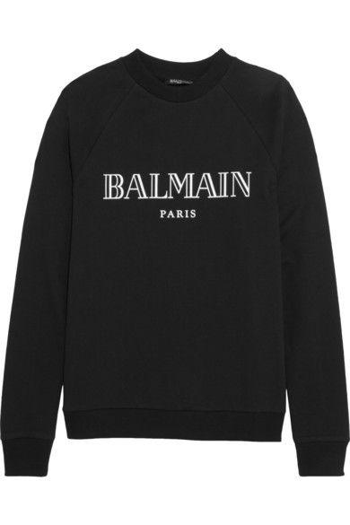 Balmain   Sweat en jersey de coton imprimé   NET-A-PORTER.COM