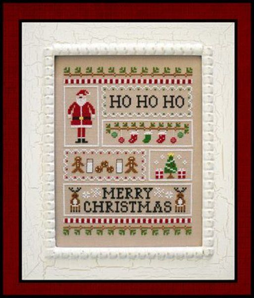 Santa's Sampler is the title of this cross stitch pattern from Country Cottage Needleworks that is stitched with DMC threads.