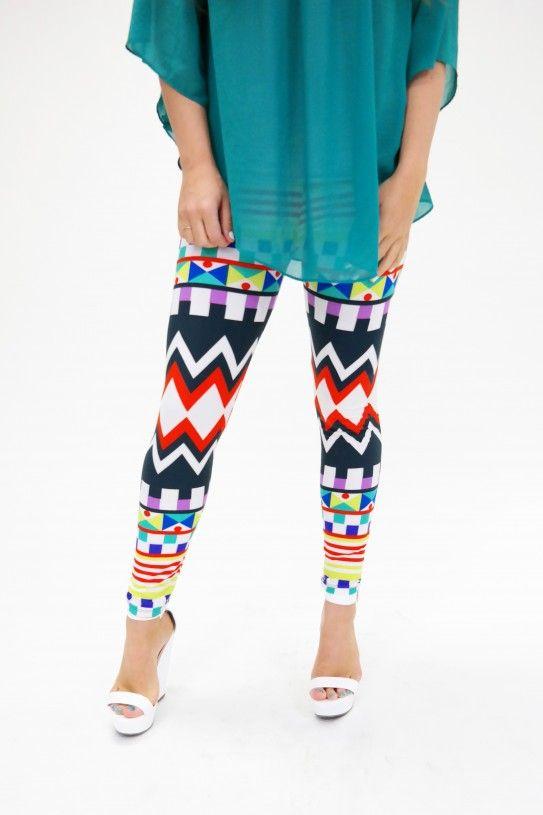 Ann Arbor Leggings – Multi Color Geometric