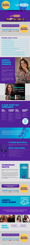 Página para conversão do Curso Self-Vocal, de Janaína Pimenta