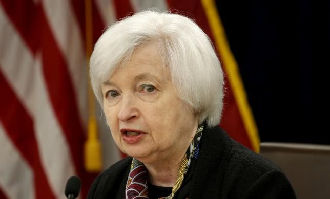 U.S. Federal Reserve Chair Janet Yellen holds a press conference following the two-day Federal Open Market Committee (FOMC) policy meeting in Washington March 16, 2016.  REUTERS/Kevin Lamarque/File Photo