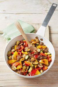Mediterrane Hackfleisch-Gemüse-Pfanne
