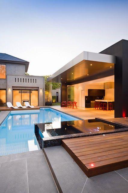 Diseño de Interiores & Arquitectura: 18 Diseños de pequeñas pero hermosa piscinas