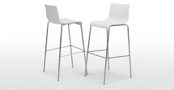 Piloti Barhocker in Weiß ► Neues Design für dein Zuhause! Entdecke jetzt Stühle in vielen Styles bei MADE.