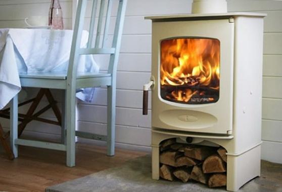 Wood Burning Stove, Scandinavian Style