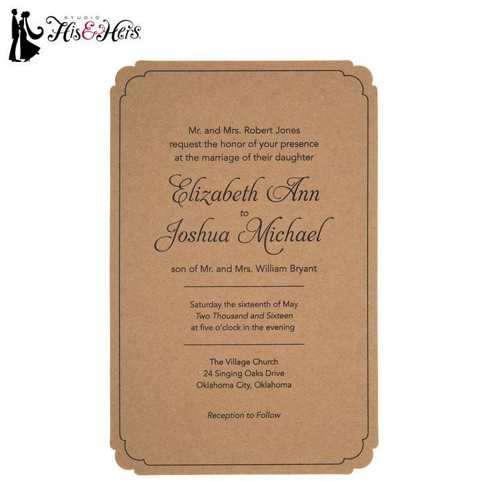 all ireland wedding invitations%0A Kraft Wedding Invitations