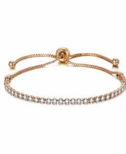 1fe8e43253a7 pulsera fina dorada mujer