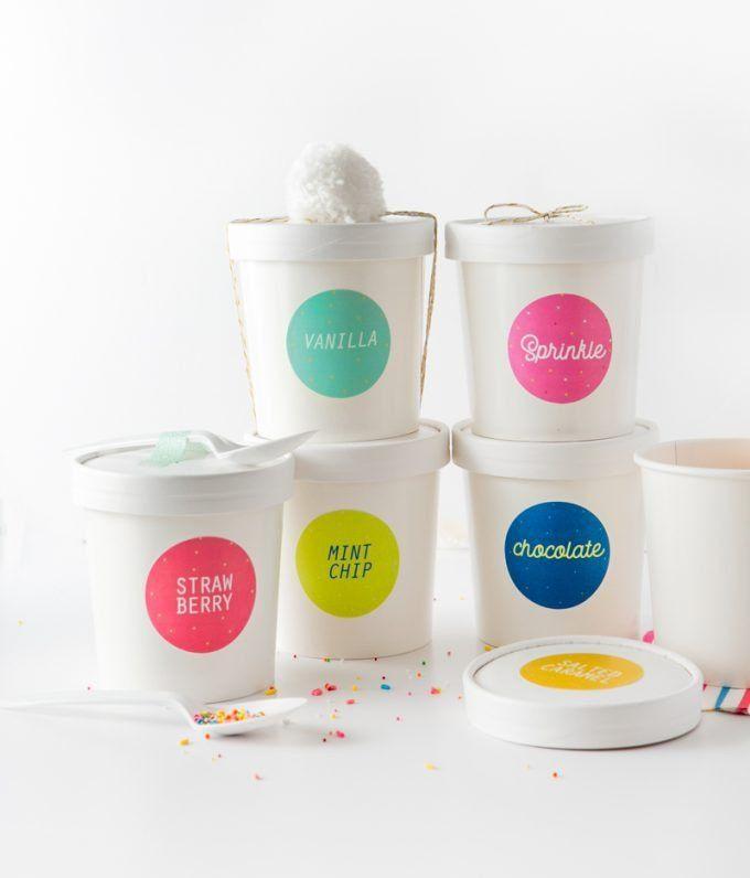 Ice Cream Label Template Beautiful Free Printable Ice Cream Labels Design Eat Repeat Ice Cream Cups Design Ice Cream Packaging Ice Cream Brands